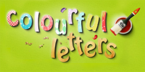 Colourful letters
